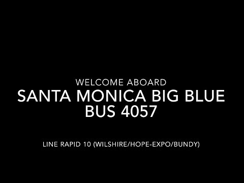 (EXPRESS) Santa Monica Big Blue Bus 2005 New Flyer L40LF #4057  | Coin Lloyd's Transit Hub