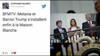 Melania et Barron Trump s'installent enfin à la Maison Blanche