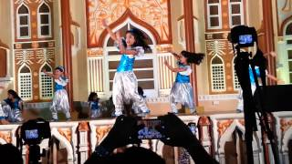 Dolsey in Global Village Dubai Dancing on Bollywood Songs remix