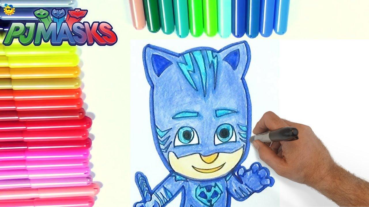 Catboy Rotuladores Mágicos De Los Pj Masks O Héroes En Pijamas Con Dibujos Sorpresa Color Wonder Pj