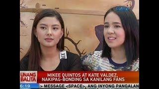 UB: Mikee Quintos at Kate Valdez, nakipag-bonding sa kanilang fans