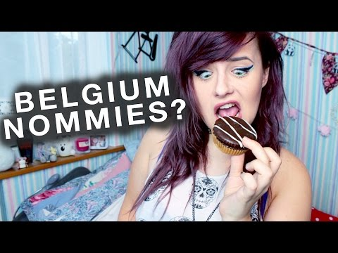 BRITISH GIRL TASTING BELGIAN TREATS!!