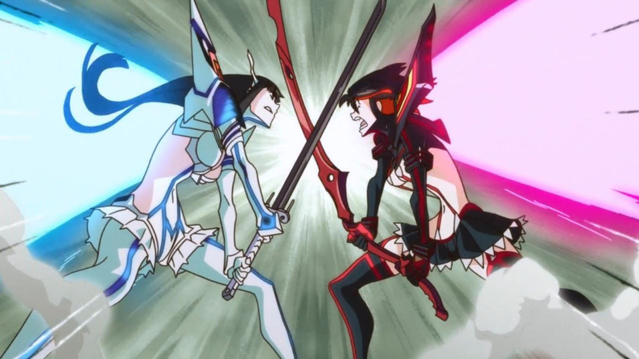 Image result for kill la kill ryuko vs satsuki
