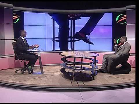 Andile Ncube, host of sport @ 10 interviews actor Lesley Musina