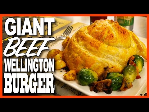 Giant Beef Wellington Burger - Bacon, Mushroom & Swiss Recipe