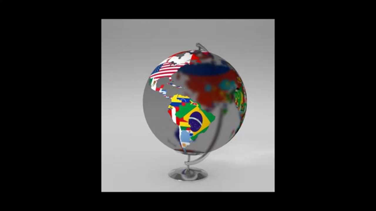 Earth globe world map with flags 3d model youtube earth globe world map with flags 3d model gumiabroncs Choice Image
