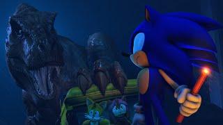 Sonic in Jurassic Park: T-Rex Breakout