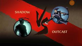 Shadow fight 2 The Greatest Temptation|Winning Outcast Challenge+Weapon:Kusarigama