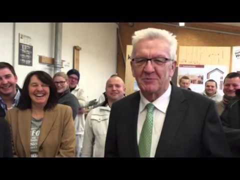 Kaufmann Oberstadion kretschmann besucht holzbau kaufmann oberstadion im alb donau kreis