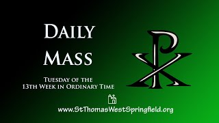 Daily Mass June 30, 2020