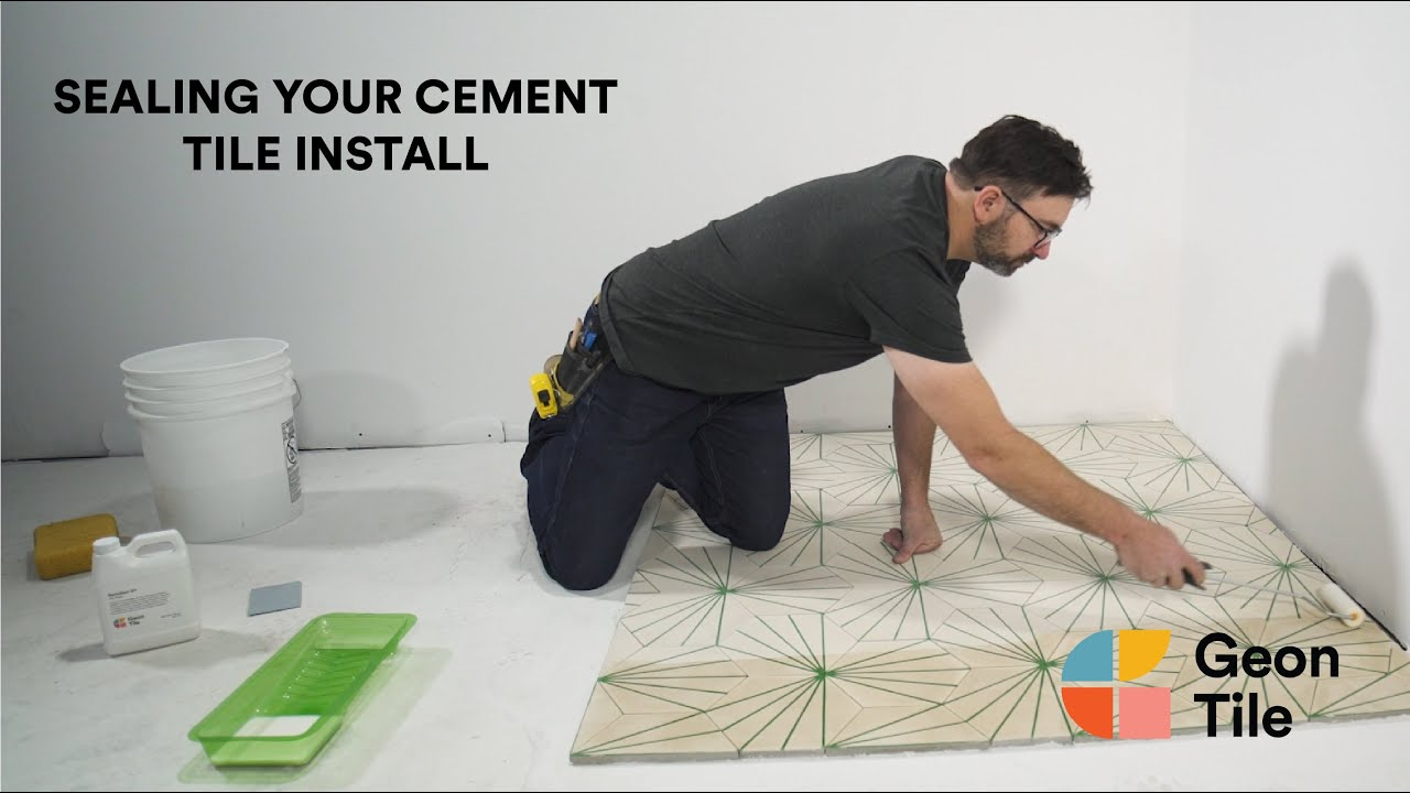 How To Seal Your Cement Tile Install