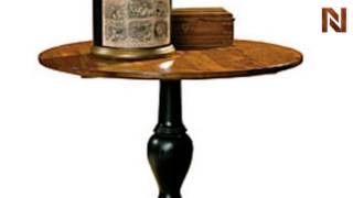 Hekman 7-8001 Pedestal End Table Stone Mountain From Mountain Retreat