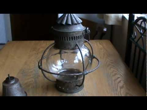 Old Ship's Onion Lamp - Whale Oil Globe Lantern - Circa 1850's