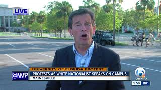 Protests greet white nationalist Richard Spencer in Gainesville