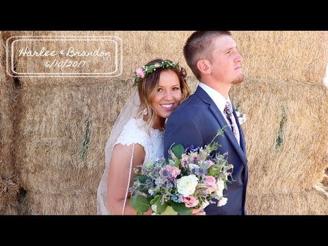Utah Wedding Video // Harlee & Brandon // Nephi, Utah