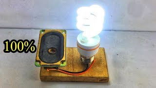 New Experiment Free Energy Generator Using Speaker Magnet 100%