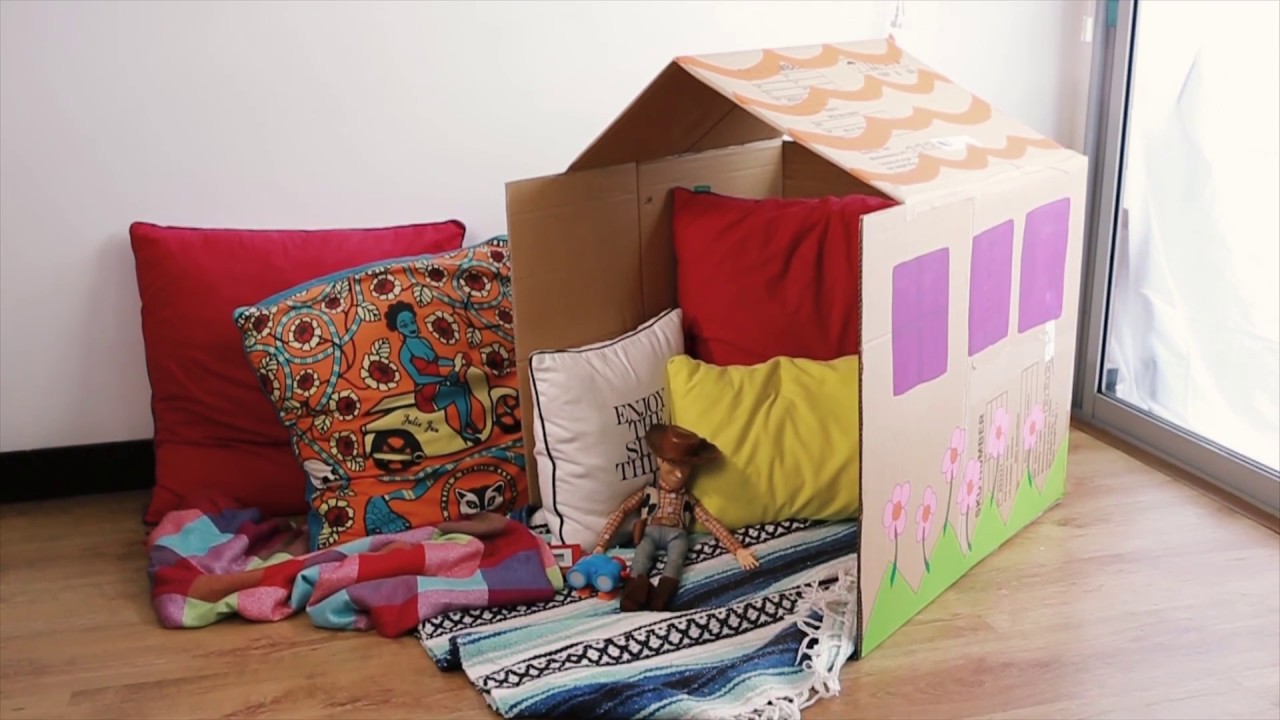 Como hacer una casa de carton como hacer cajas de carton - Como construir una casa ...