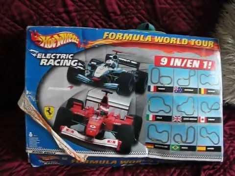 Old School Hot Wheels Formula World Tour Electric Racing Set I Got For Freeeee