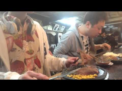 大食いチャレンジ→リベラでステーキ3セットを食べたwith自由人 part2