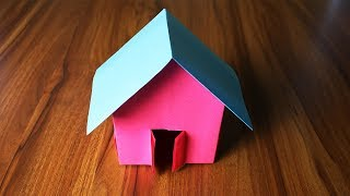 How to make a Paper House- very easy- Paper Craft