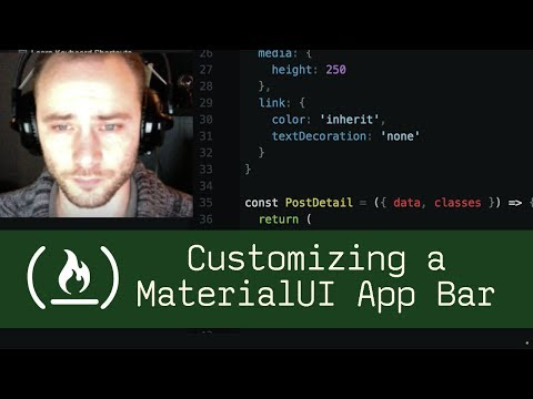 Customizing a MaterialUI App Bar (P5D3) - Live Coding with Jesse