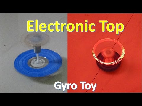 How to make a simple electronic top - Gyro Stabilized