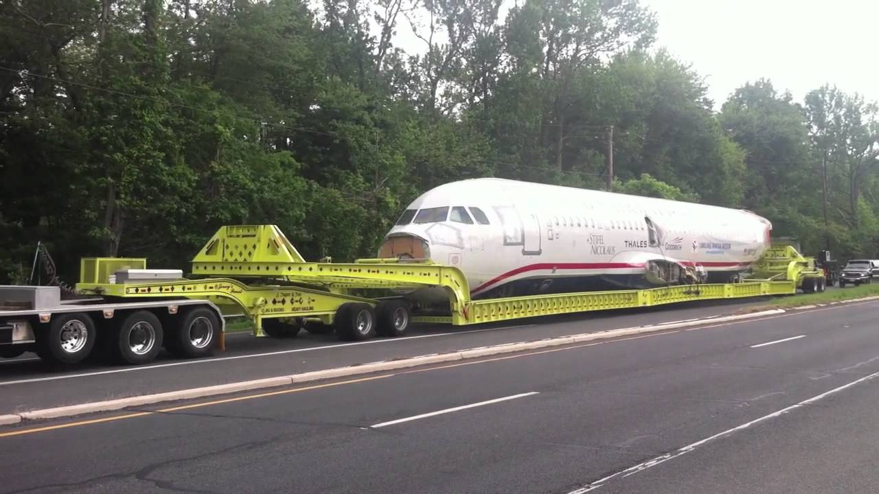 Miracle On The Hudson Plane Wreckage Sully Sullenberger Convoy Robbinsville Nj Youtube