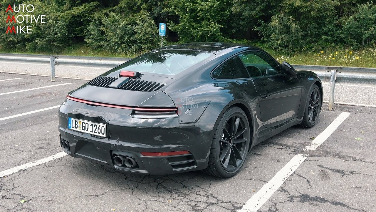 2019 Porsche Carrera 4s Spied Testing At The Nurburgring Youtube