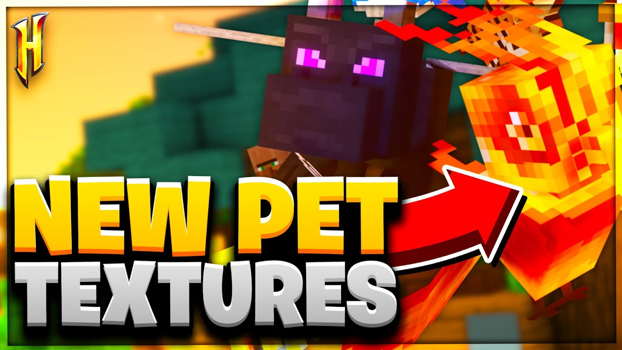 New Hypixel Skyblock Texture Pack Pets Update Full Showcase Hypixel Skyblock Youtube