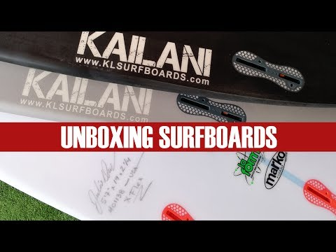 Unboxing New Kailani Surfboards