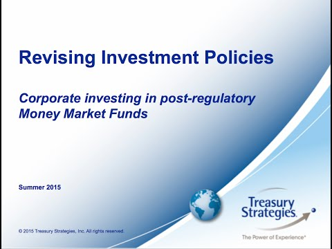 Revising Investment Policies: Corporate Investing in Post-regulatory Money Market Funds