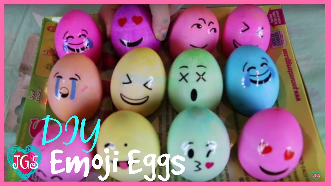 Emoji Easter Eggs DIY