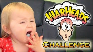 😖 WARHEADS CHALLENGE: My Kids Eat Warheads For The First Time😂