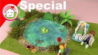 Playmobil deutsch - Miniaturgarten mit Teich - Pimp my PLAYMOBIL von Familie Hauser