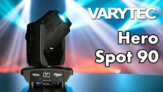 Varytec Hero Spot 90: high power moving head in a tiny housing