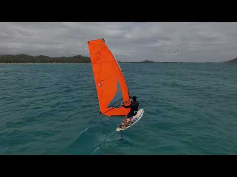 Skydio 2 Footage While Windfoiling Kailua Bay.