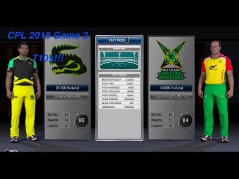 Caribbean Premier League : T10s!! Game 2: Jamaica  vs Guyana  (Ashes Cricket 2017 )