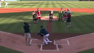 Santa throws out the first pitch