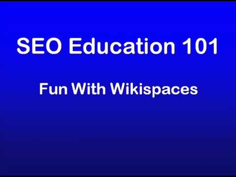 21 - SEO Education 101 Promotion - Fun With Wikispaces