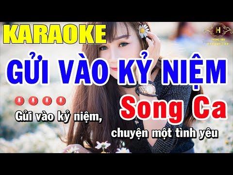 Karaoke Gửi Vào Kỷ Niệm Song Ca Nhạc Sống | Trọng Hiếu