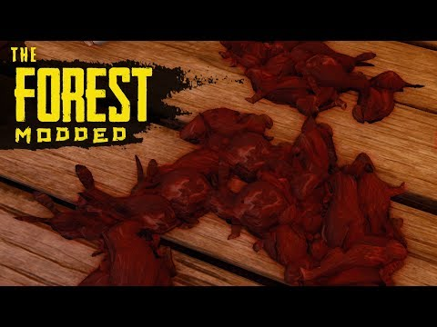RABBIT BLOODBATH! The Forest Modded S2 Episode 66