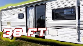 We bought a Cheap old camper to use as a cabin! (needs work)