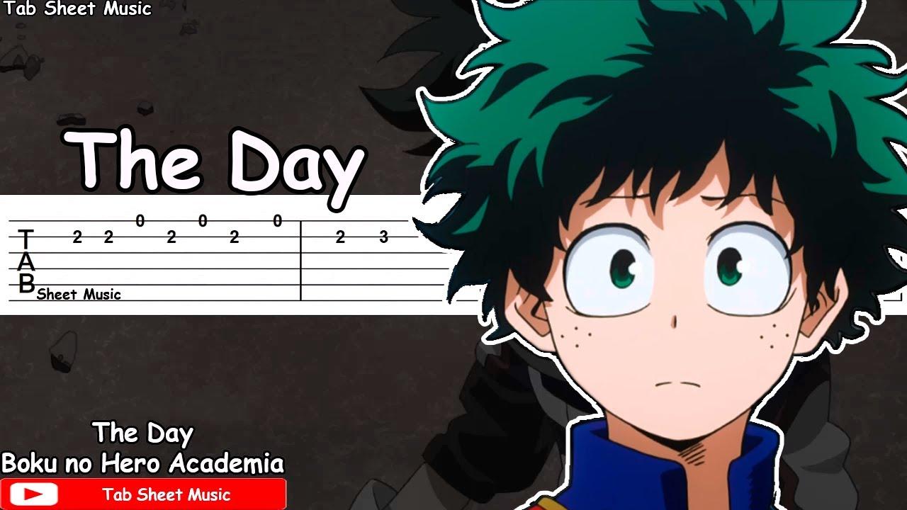 Boku No Hero Academia Op 1 The Day Guitar Tutorial Youtube