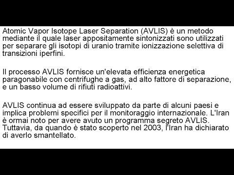 AVLIS (Atomic Vapor Isotope Laser Separation)