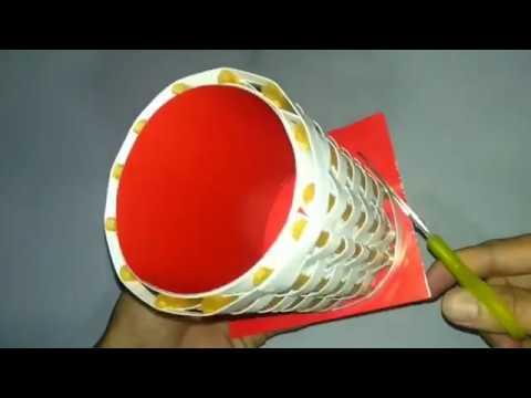 Cara Membuat Vas Bunga Dari Sedotan Dan Kertas Bekas Youtube