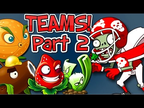 Plants vs. Zombies 2 it's about time: New Team Plants vs All Star Zombie Part 2