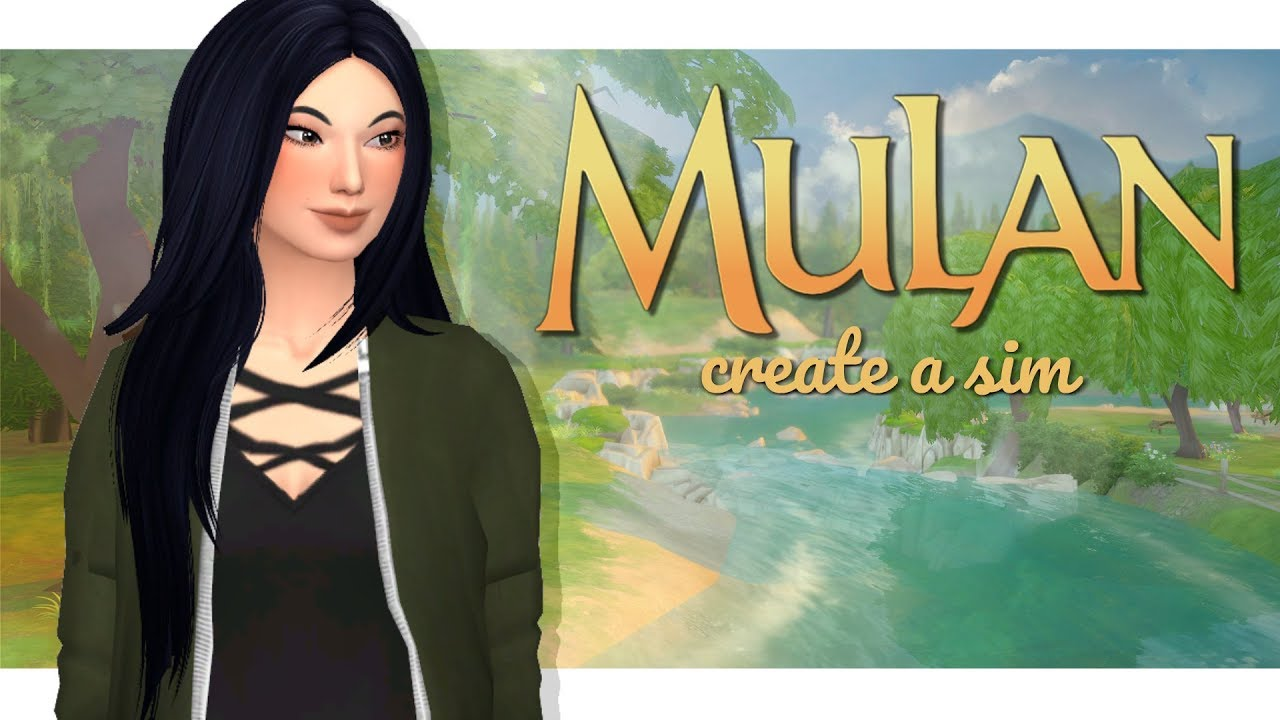 Modern Day Mulan Sims 4 Disney Princess Create A Sim Youtube