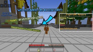 (ADMIN SERIES) CLEARING A PLAYERS INVENTORY FOR NO REASON?! - FaithfulMC 7.0 Staff Series