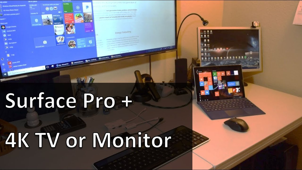 Surface Quick Tip: Using the Surface Pro with a 4K TV / Monitor