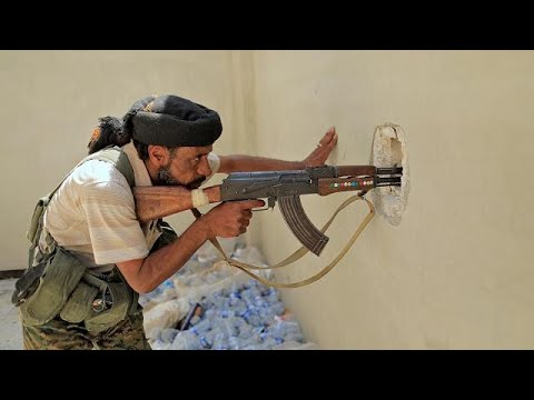 Gaining ground in Raqqa - US backed Syrian forces surround Islamic State fighters in push to…